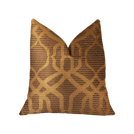 Plutus PBRA2297-2030-DP Portia Luxury Double Sided Throw Pillow, Gold & Brown - Queen - image 3 of 3