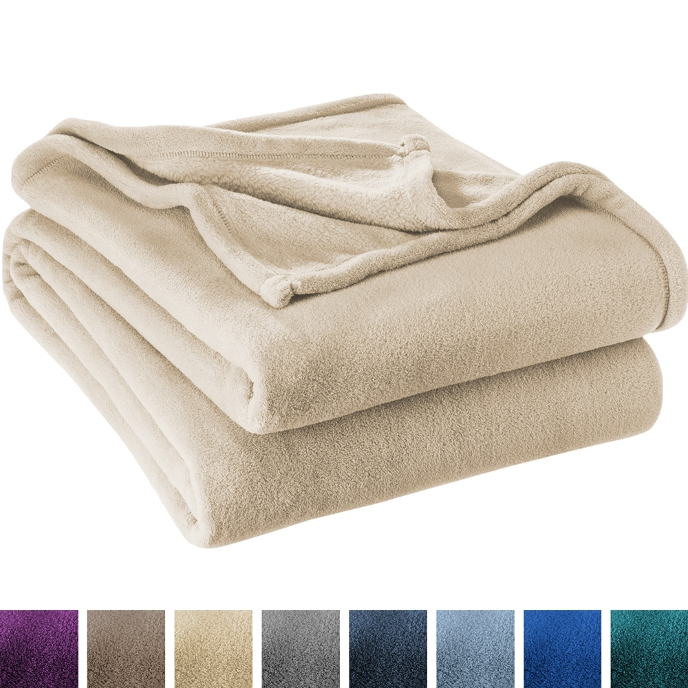 Ultra Soft Microplush Velvet Blanket Luxurious Fuzzy Fleece Fur All Season Premium Bed... by Bare Home