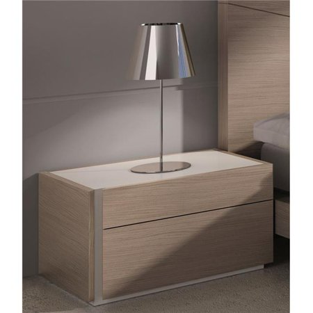 Evora Left Facing Night Stand - Wenge & Light Grey