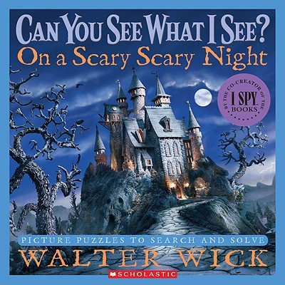 On a Scary Scary Night : Picture Puzzles to Search and Solve - Scary Happy Halloween Font