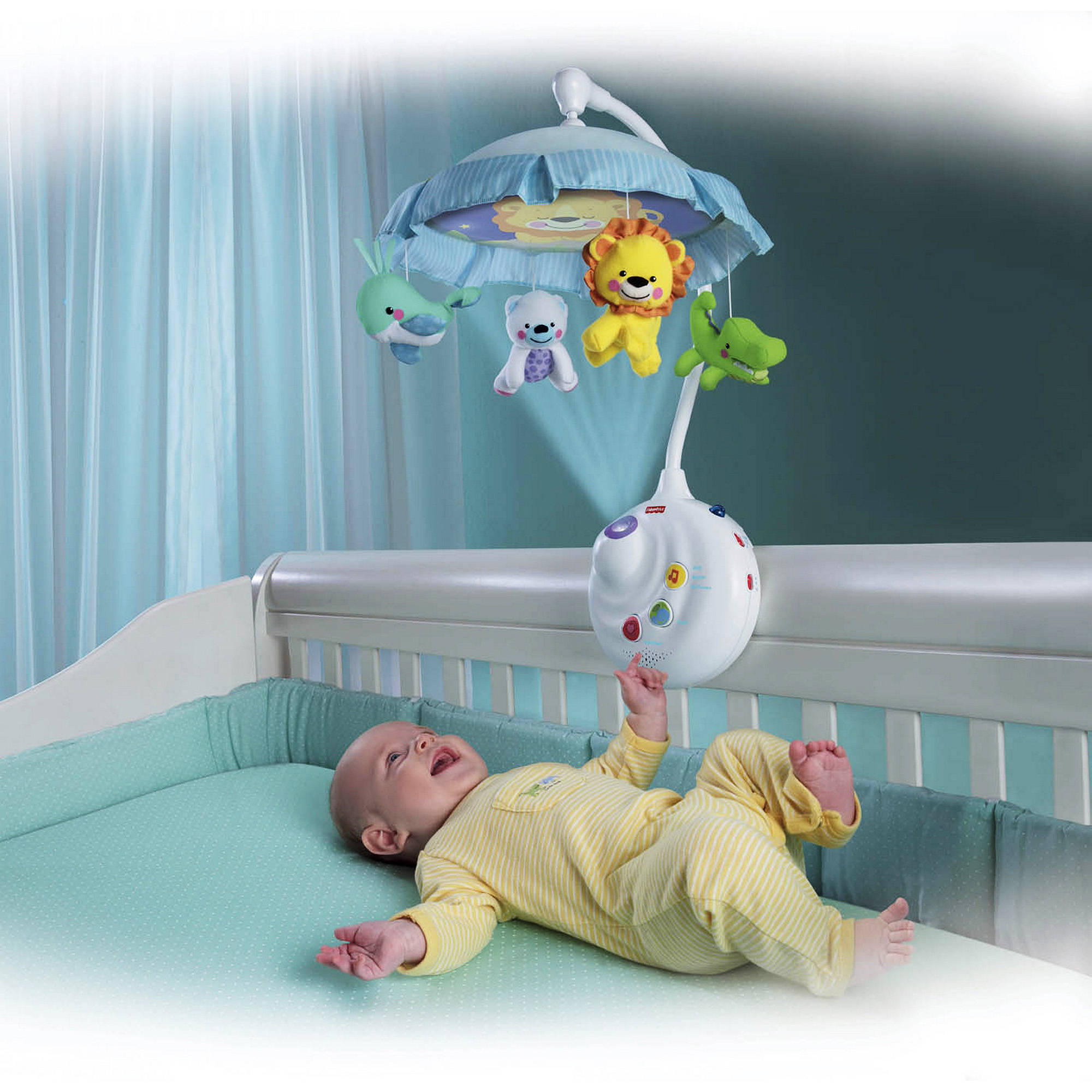 Fisher Price 2 In 1 Projection Crib Mobile Precious Planet