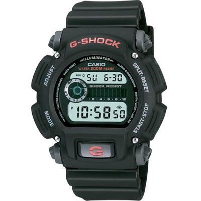 Casio Men's Digital Black and Grey Resin Strap G-Shock Watch DW9052-1V (Gray Watches For Men)