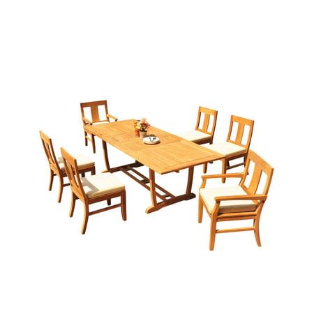 Grade-A Teak Dining Set: 6 Seater 7 Pc: 94