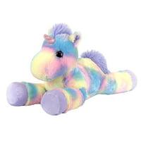 Holiday Time Christmas Animal Plush Toy-Laying Tie Dye Unicorn