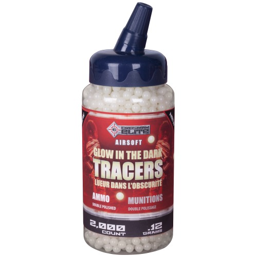Crosman Tracers Glow In The Dark SAP2KGLW Airsoft Ammo 6mm .12 gram 2,000 count by Crosman