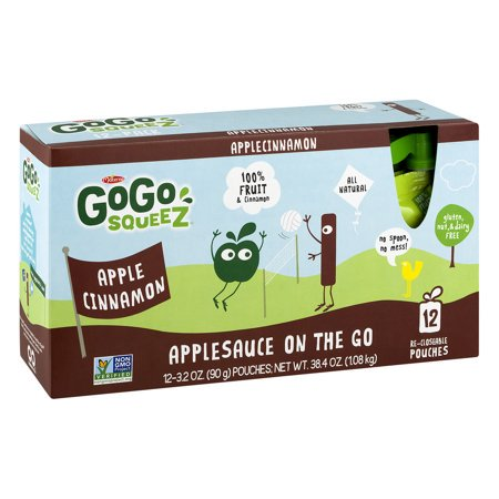 (3 Pack) GoGo squeeZ Apple Cinnamon Applesauce On The Go, 12 ct