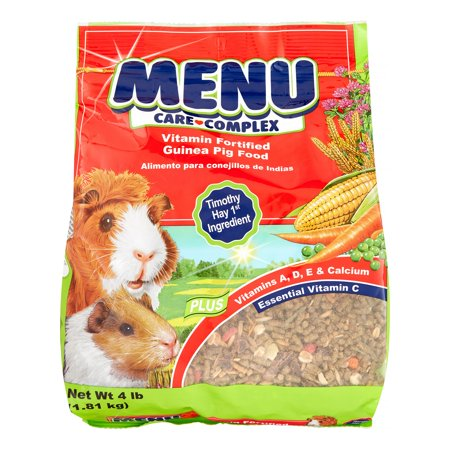 Noisy Guinea Pig - Vitakraft Menu Care Complex Guinea Pig Food, 4 lbs.