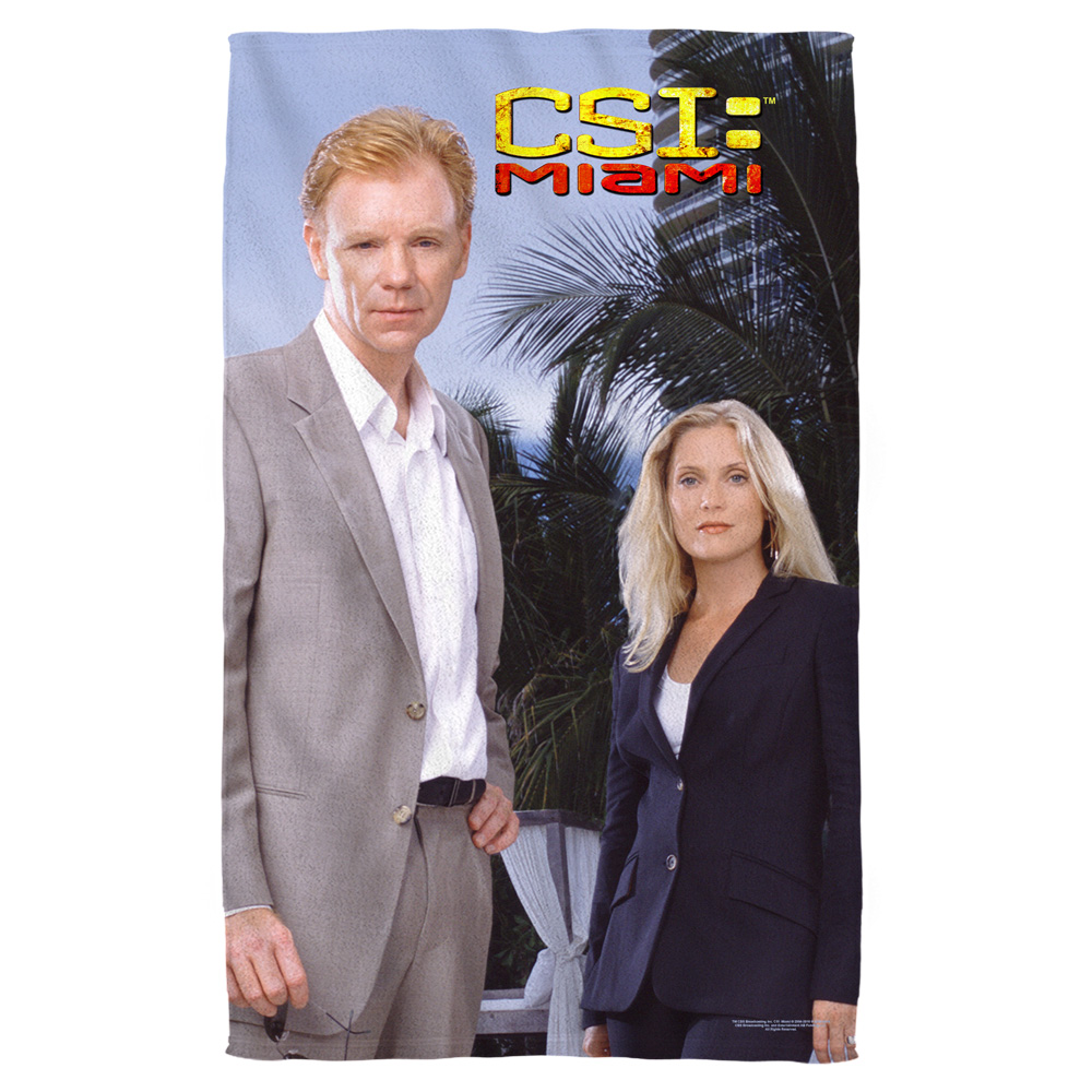 Csi Miami Blue Sky Bath Towel White 27X52