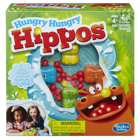 Hungry Hungry Hippos Family Classic Game, Board and Accessories
