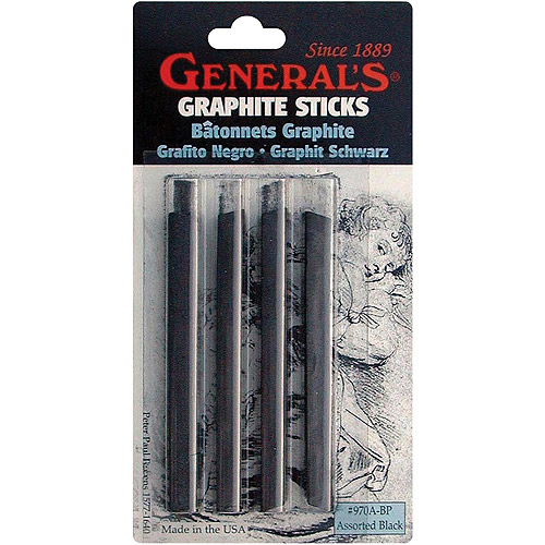 General Pencil Compressed Graphite Sticks, 4-Pack