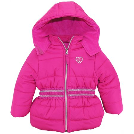 92a7df58f07c Pink Platinum - Pink Platinum Toddler Girl Solid Coat with Silver ...