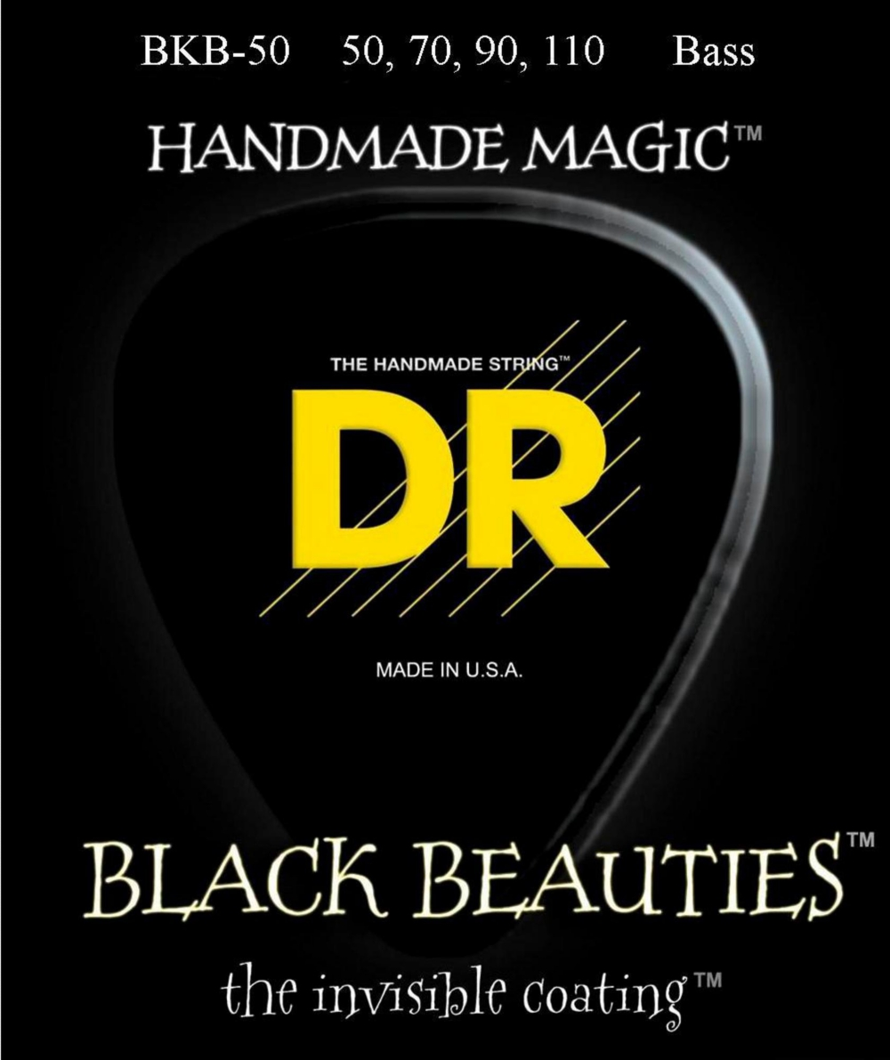 DR Strings BKB-50 Black Beauty Heavy Bass Strings by DR Strings
