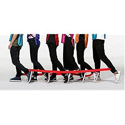 anydke 6 legged race bands- carnival game the best partner , perfect birthday party game for kids & adults accompany with beach, easter, backyard of 2 ?red? - Halloween Carnival Games For Adults