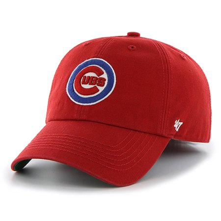 e4f3d67ccb5 Chicago Cubs  47 Franchise Basic Logo Fitted Hat - Red - Walmart.com