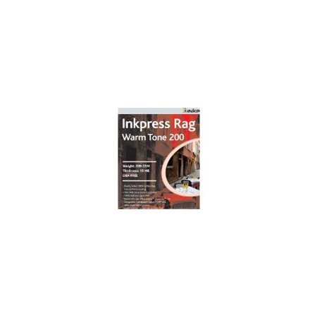 Inkpress Rag Warm Tone Inkjet - Inkpress Picture Rag Warm Tone Paper 200 gsm 4 x 6in. - 50 Sheets