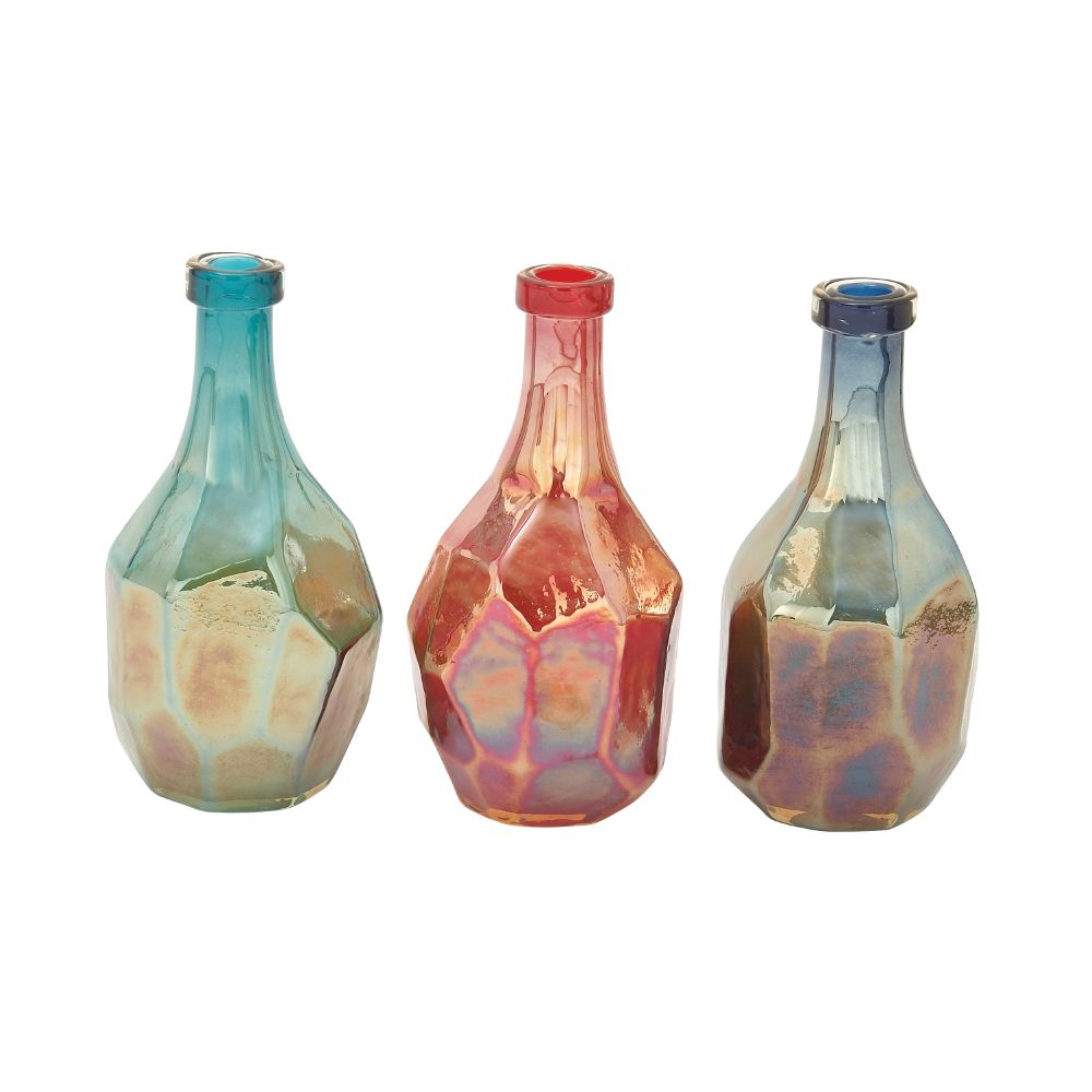 Radiant Glass Bottle 3 Assorted
