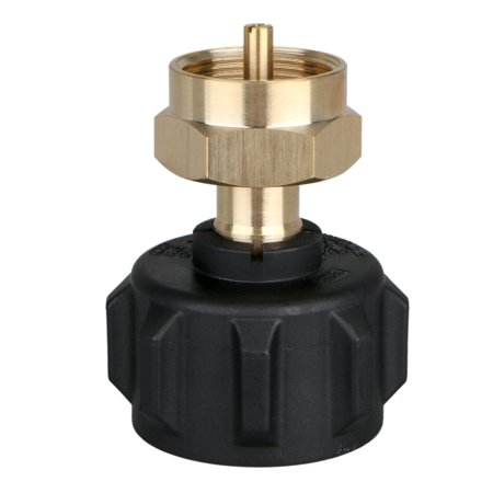 Refill Adapter LP Gas 1 lb Cylinder Tank Coupler Universal for QCC1/Type1 Propane Tank and One Pound Tank Throwaway Disposable Bottle-100% Solid Brass