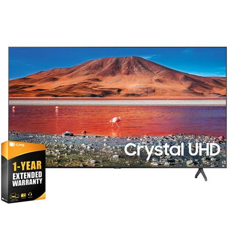 "Samsung UN50TU7000FXZA 50 inch 4K Ultra HD Smart LED TV 2020 Model Bundle with 1 Year Extended Warranty (UN50TU7000 50TU7000 50 Inch TV 50"" TV)"
