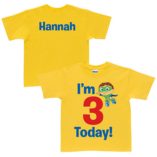 Personalized Super Why! Birthday Yellow Toddler T-Shirt