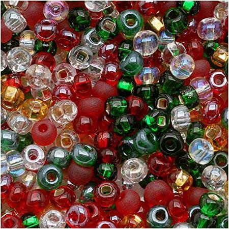 Czech Seed Beads 8/0 Deck The Halls Christmas Mix (1 (Christmas Brads)
