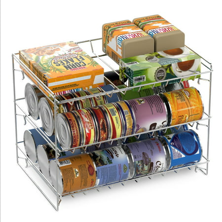 Kitchen Can Organizer 3 tier can dispenser stackable can organizer rack for kitchen 3 tier can dispenser stackable can organizer rack for kitchen pantry countertop and workwithnaturefo