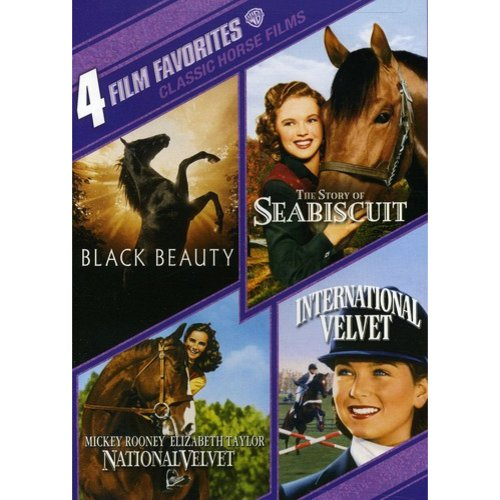 4 Film Favorites: Classic Horse Films: National Velvet / International Velvet / Black Beauty / Story Of Seabiscuit