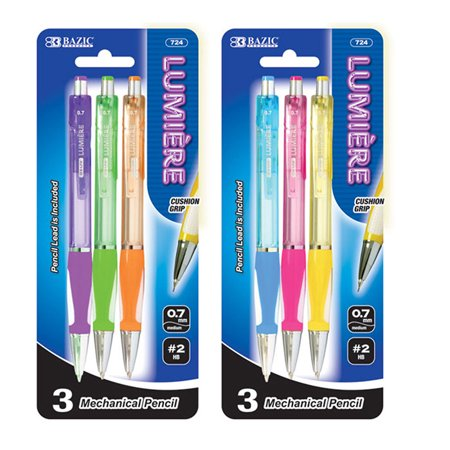 New 402337   Lumiere 0.7 Mm Mechanical Pencil W / Grip (3 / Pack) (24-Pack) Pencil Cheap Wholesale Discount Bulk Stationery Pencil Mechanical for $<!---->