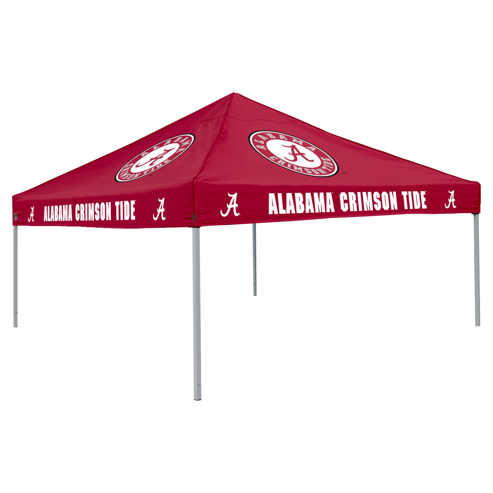 Logo Chair NCAA Alabama 9' x 9' Solid Color Tent, Sleeps 4