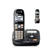 Panasonic KX-TG6592T DECT 6.0 Plus 1.9GHz 2 Expandable Handset Cordless Phone W/ Big Button Amplified Phone