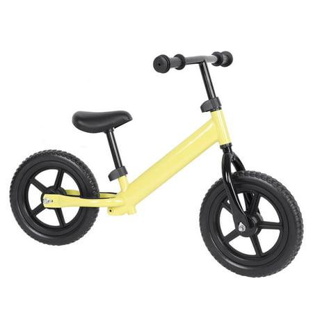 Yosoo 4 Colors 12inch Wheel Carbon Steel Kids Balance Bicycle Children No-Pedal Bike, No-pedal Bicycle, Kids Balance Bicycle