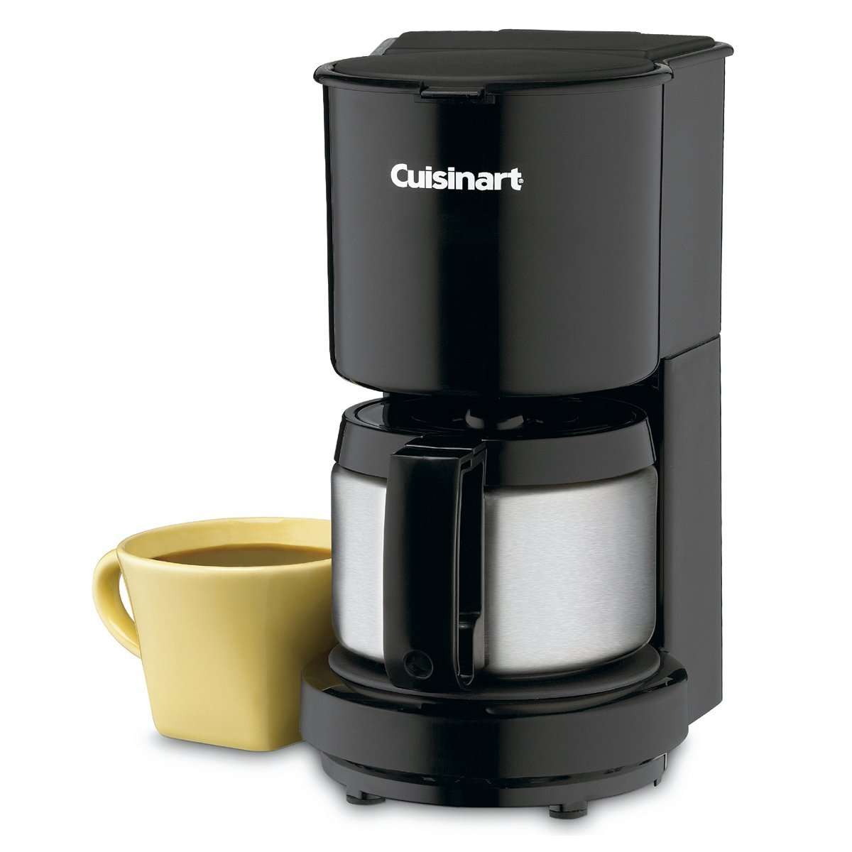 Certified Refurbished Cuisinart 4-Cup Coffeemaker with Stainless Carafe (DCC-450BK)