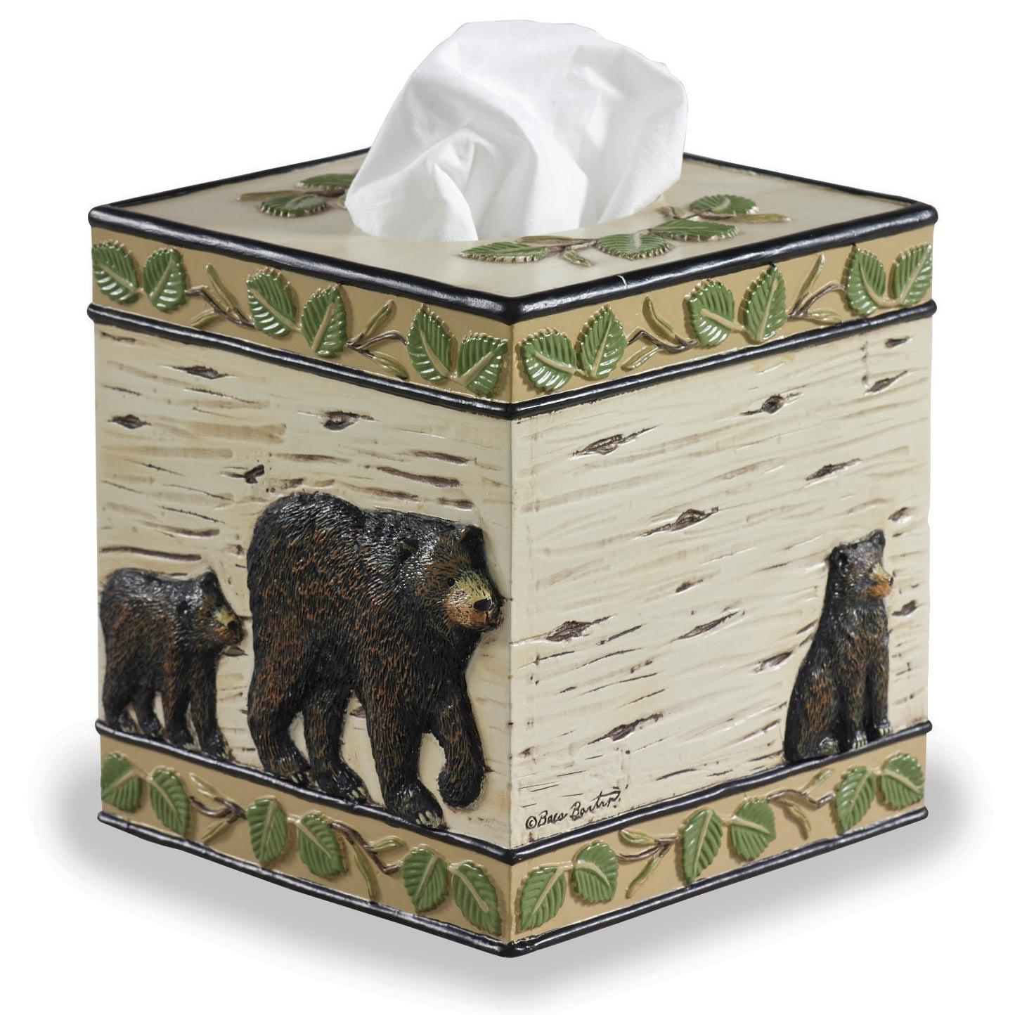 black bear tissue box cover - walmart