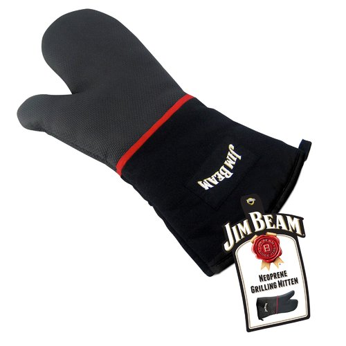 Jim Beam Heavy Duty Grilling Mitten with Neoprene for Barbecue and Grilling