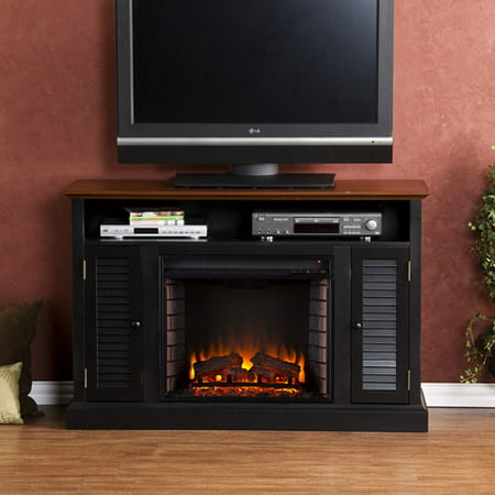 """Southern Enterprises Wiltshire Electric Fireplace Media Console for TVs up  to 48"""", Black - Southern Enterprises Wiltshire Electric Fireplace Media Console"""