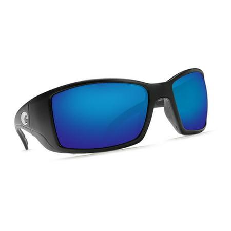 d062d406db Costa Del Mar - Costa Del Mar Blackfin Matte Black Sunglasses Blue Lens  400G - Walmart.com