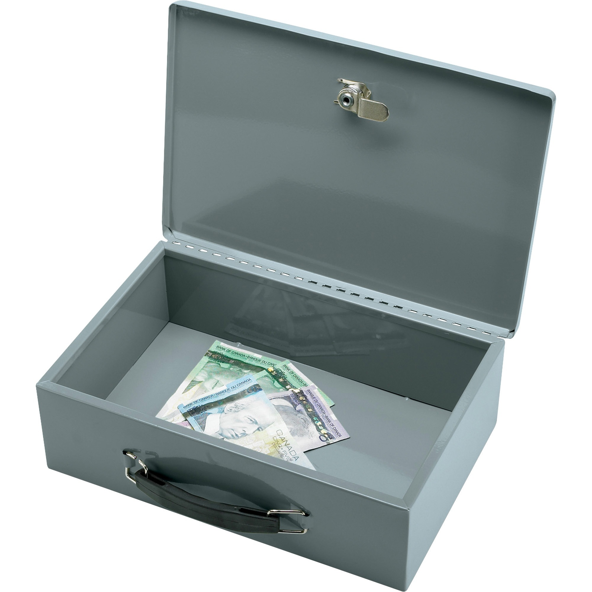 Sparco, SPR15502, All-Steel Insulated Cash Box, Gray
