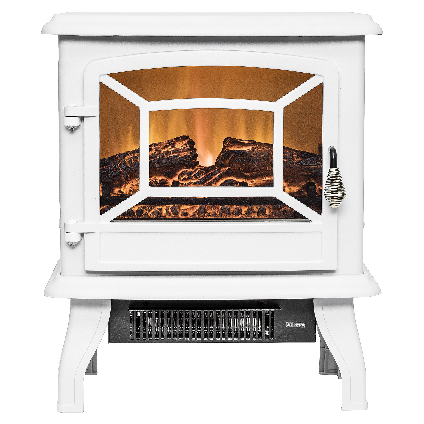 "AKDY FP0080 20"" Freestanding White Portable Electric Fireplace Heater 3D Flames Firebox w/"