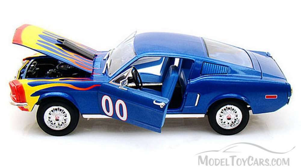 Ford Mustang Cooter´s Blau Dukes of Hazzard 1968 1//18 Johnny Lightning Modell Au