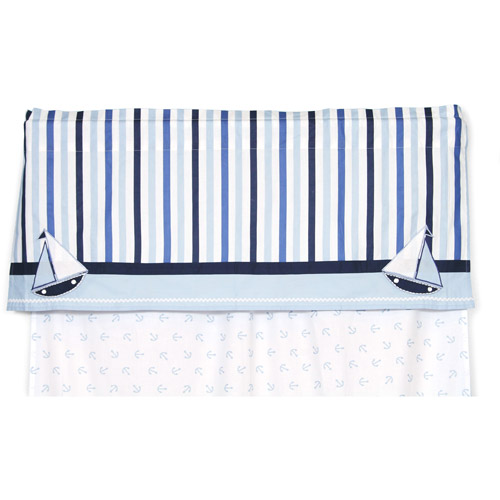 "Bacati - Little Sailor Valance 15""x54"" 100% Cotton Percale Fabrics"