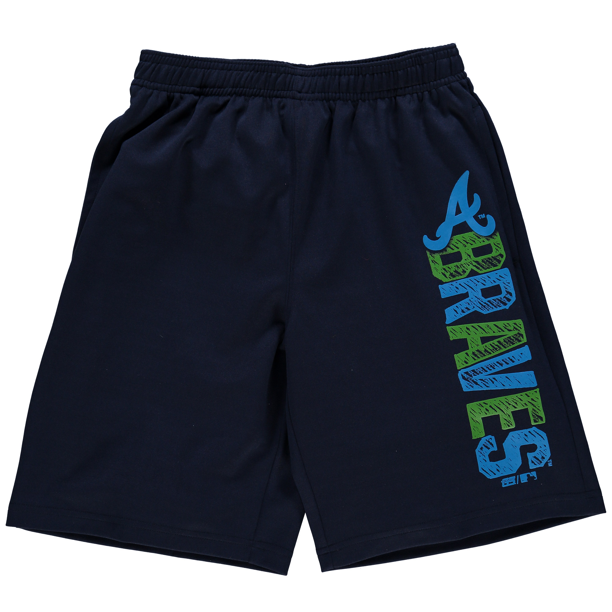 Atlanta Braves CCandy Youth All Sport Shorts - Navy