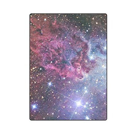 CADecor Galaxy Space Blanket Throw Super Soft Warm Bed or Couch Blanket 58x80 inches (Space Jam Throw)