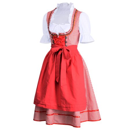 Women's German Dirndl Dress Costumes for Bavarian Oktoberfest Carnival Halloween - German Halloween Traditions