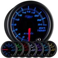GlowShift Black 7 Color 2400 Exhaust Gas Temperature Gauge