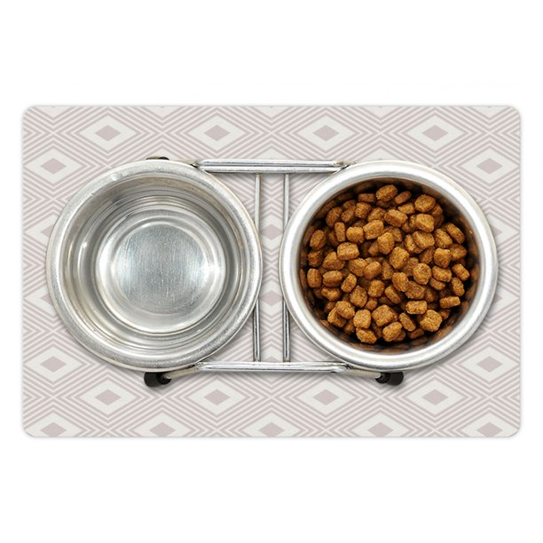 Abstract Pet Mat For Food And Water, Contemporary