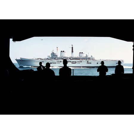 LAMINATED POSTER Crew members aboard the U.S. Navy aircraft carrier USS George Washington (CVN 73) watch from the shi Poster Print 24 x (George Washington Carver Best Known For)