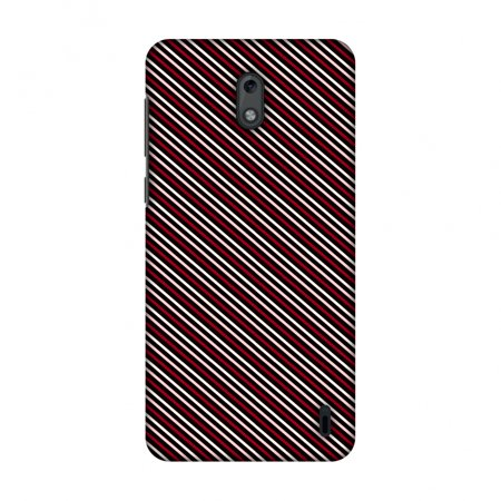 Nokia 2 Case, Premium Handcrafted Designer Hard Shell Snap On Case Printed Back Cover with Screen Cleaning Kit for Nokia 2, Slim, Protective - Love Lines