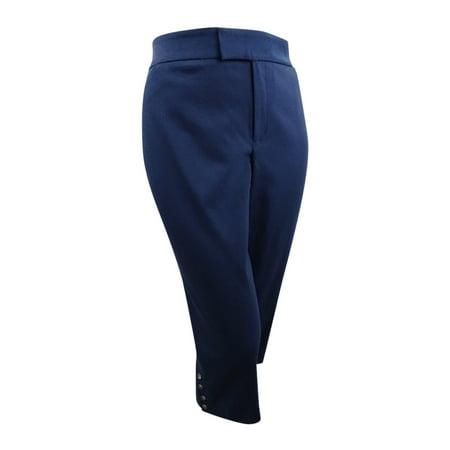 - Charter Club Women's Plus Cropped Button-Hem Capri Pants (20W, Intrepid Blue)