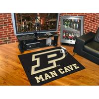 "Purdue 'P' Man Cave All-Star Mat 33.75""x42.5"""