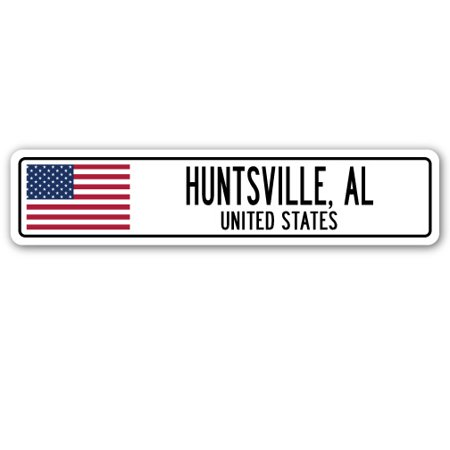 HUNTSVILLE, AL, UNITED STATES Street Sign American flag city country   gift