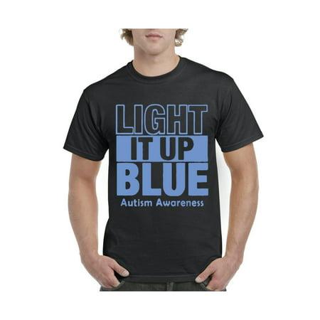 Light It Up Blue Autism Support Men's Short Sleeve T-Shirt](Light Up Tee Shirt)